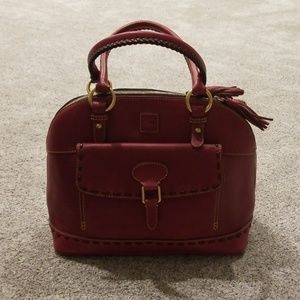 Dooney and bourke Raspberry dome satchel